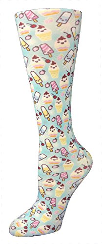 Cutieful Women's Nylon 8-15 Mmhg Compression Sock Ice Cream Social