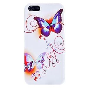 WQQ caso duro del patrón de mariposa del rhinestone para el iphone 5/5s