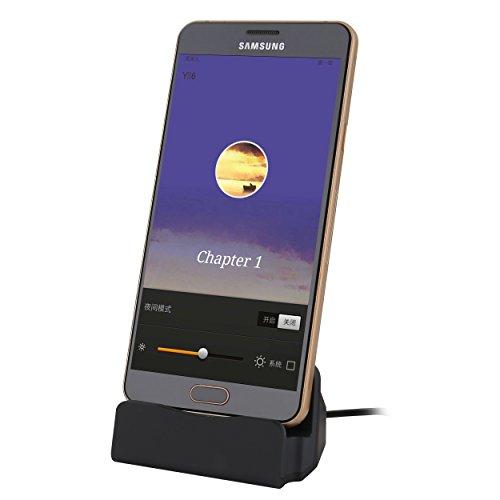 Liamoo micro-USB Daten- u. Ladestation für Samsung, HTC, Sony, LG usw. Docking-Station in Schwarz