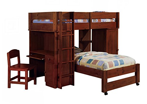 247SHOPATHOME Idf-BK529EXP Bunk-Beds, Twin, Walnut