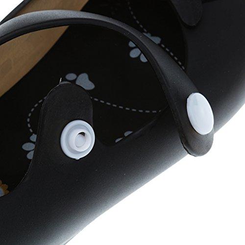 Embroma Sandalias Zapato De Lluvia Zapatos De Playa Jalea Del Búho para Bebe Niñas Muchachas - 26, Azul Negro