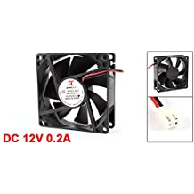 URBEST 80mm x 25mm DC 12V 0.2A 2Pin Cooling Fan for Computer Case CPU Cooler