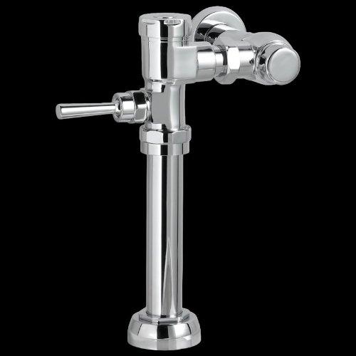 American Standard 6047.162.002 Exposed Manual 1-1/2-Inch Top Spud 1.6 Gpf Toilet Bowl Flush Valve, Polished Chrome Exposed Toilet Flushometer