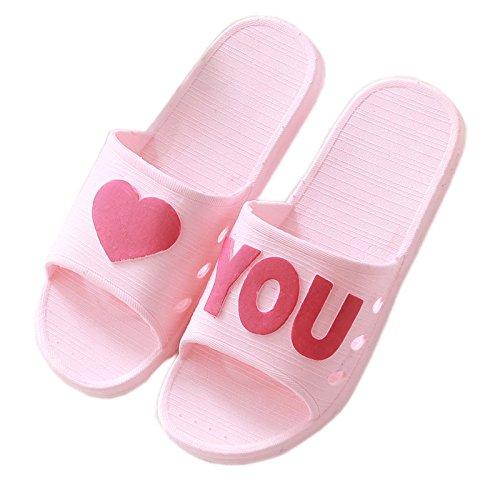 Sandalias 45 Lovers Bottom Inicio 36 GUANG Zapatillas 44 Darkblue De Pantuflas Mujer Grueso Y Pink Ducha Antideslizante Verano 37 Baño XING Suave Inferior Parte Interior Inicio TBPvv