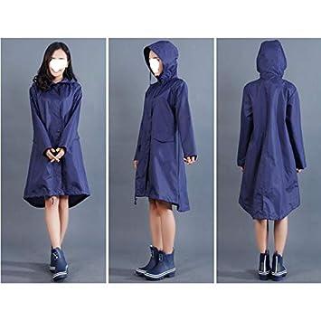 LXH-Rain Gear Supplies Chubasquero Estilo Poncho for Mujer ...