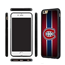 CHICEXP Montreal Canadiens iPhone 6/6s TPU Case cover-with Glass Screen Protector Film