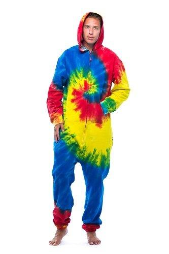 6436-MULTI-L #FollowMe Jumpsuit / Adult Onesie / Pajamas