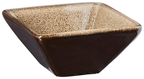 "Oneida Foodservice L6753059940 Rustic Chestnut Square / Triangular Sauce Dish 2.75"", Set of 72"