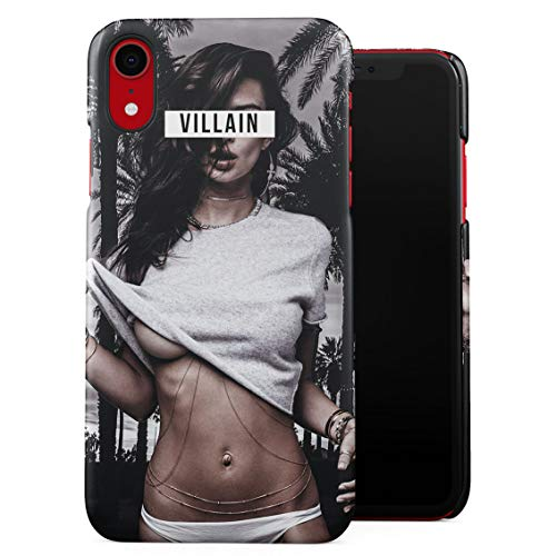 Villain Hot Naughty Girl Cali California Palms Miami Beach Good Vibes Only High Life Plastic Phone Snap On Back Case Cover Shell Compatible with iPhone Xr]()