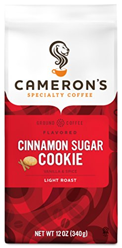 Cameron's Coffee Roasted Ground Coffee Bag, Cinnamon Sugar Cookie, 12 Ounce