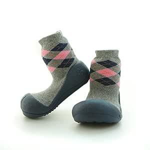 Attipas Argyle Baby Walker Shoes, Navy, Medium