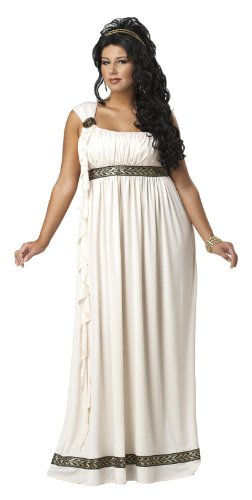 California Costumes Plus-Size Olympic Goddess Dress, Cream, 1XL (16-18) Costume ()