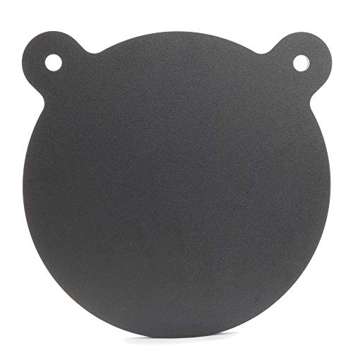 ShootingTargets7 - AR500 Steel Gong Target - 10 x 1/2 inch for Large Rifles to 338 Lapua - Laser Cut USA Steel