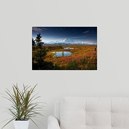 lynn-wegener-wall-peel-wall-art-print-entitled-male-hiker-near-two-kettle-ponds-in-the-fall-tundra-in-denali-national-park-24x16