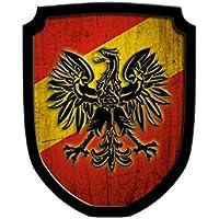 Madera spielerei 33550de R–Escudo Cartel Águila, Color Rojo