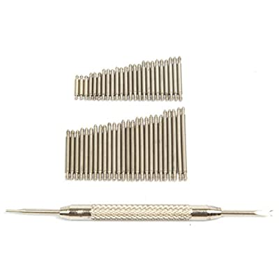 Ginsco 360 Pcs Stainless Steel Watch Band Spring Bars Link Pins with Strap Link Pin Remover Kit by Ginsco