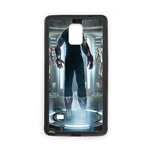 Iron Man Armor funda Samsung Galaxy Note 4 caja funda del teléfono celular del teléfono celular negro cubierta de la caja funda EEECBCAAJ11645