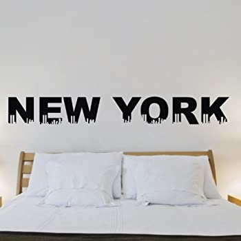 Olivia DIY Image Design Vinyl Removable Wall Decal New York City Skyline  Graphic Saying Lettering Decal Part 84