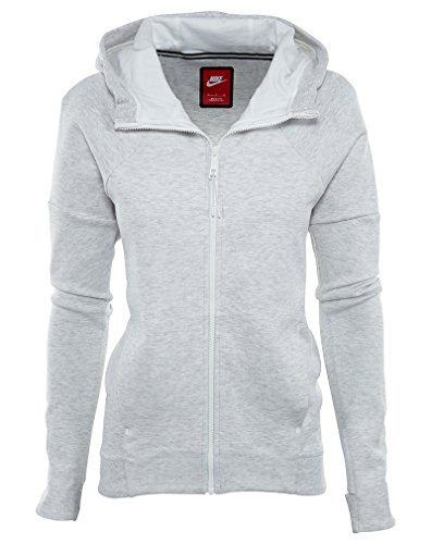 NIKE Women's Tech Fleece Full-Zip Hoodie Birch Heather 806329-051 (S)
