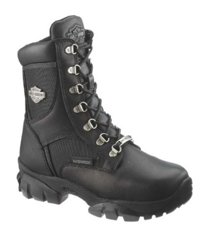 Harley-Davidson Women's Hennie Waterproof Motorcycle Boot,Black,8.5 M US