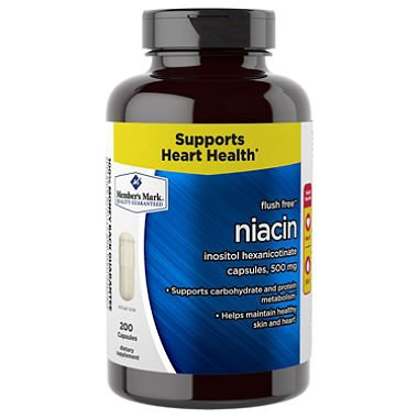 Member's Mark 500 mg Niacin Dietary Supplement (200 ct.) (pack of 6) by Members Mark