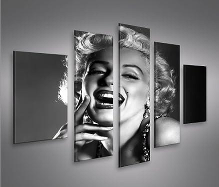 Marilyn Monroe V8-5 5 Quadri moderni su tela - pronti da appendere ...