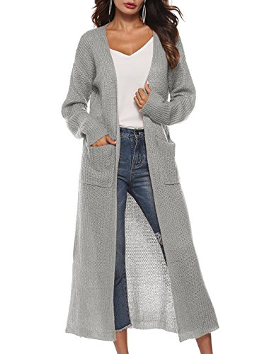 Women's Classic Lightweight Open Front Long Cardigan Office Autumn -
