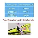 Platt Bike Seat Post Clamp Aluminium Alloy Seatpost Collar Fit for 25.4/27.2/30.8/31.6mm Bicycle seat Post