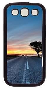Samsung Galaxy S3 Case Hdr Road PC Hard Plastic Case for Samsung Galaxy S3 / SIII / I9300 - Polycarbonate - Black