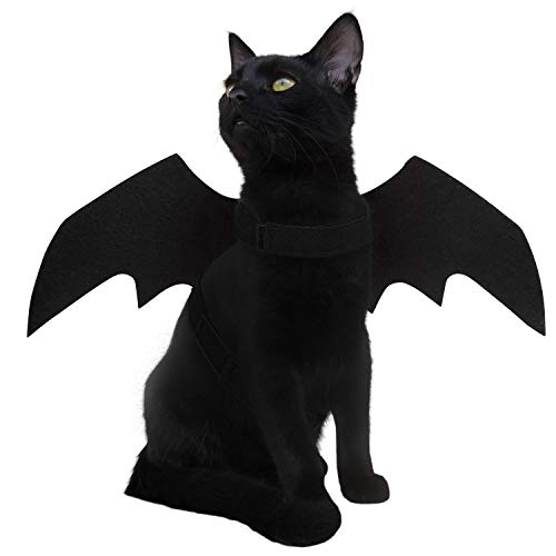 LUTER Young Dog Cat Halloween Costume Pet Apparel Bat Wings Costume
