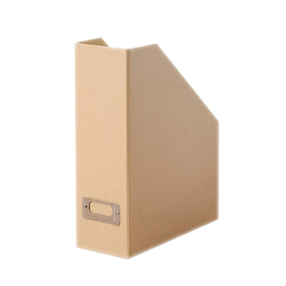 STOBOK Zeitschriftensammler beige aus Papier B/ürobedarf 25 x 10 x 30cm Organizer vertikaler Ordner