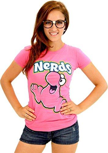 Nerds Candy PINK Juniors T-Shirt Tee (Juniors XX-Large)