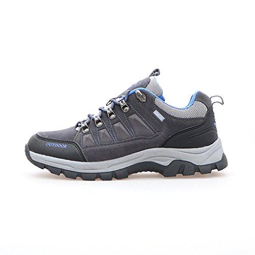 2017 Paare Sport Outdoor Rutschfeste Dämpfung Stiefel Niedrige Sneakers 38-44 Dark gray