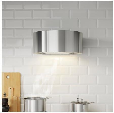 Ikea udden Campana para montaje en pared; de acero inoxidable; C: Amazon.es: Hogar