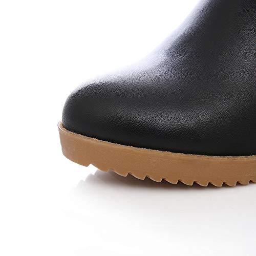 Femme Noir Sandales Compensées Abm13587 Balamasa qItX77
