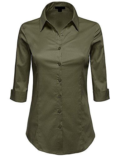 Green Button Down Collar - 9