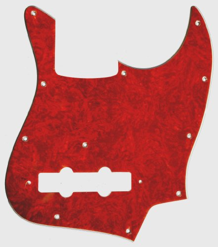 - MIJ Pickguard for Jazz Bass Red Tortoise 4Ply fa-pg-jb-rtt4