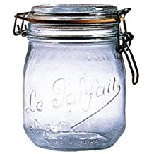 Le Parfait French Glass Canning Jar with 85mm Gasket and Lid - .75 Liter