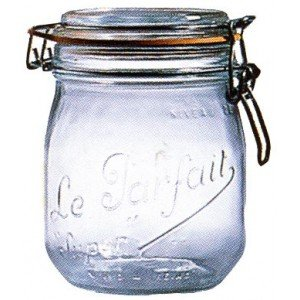 Le Parfait French Glass Canning Jar With 85mm Gasket And Lid   3/4 (