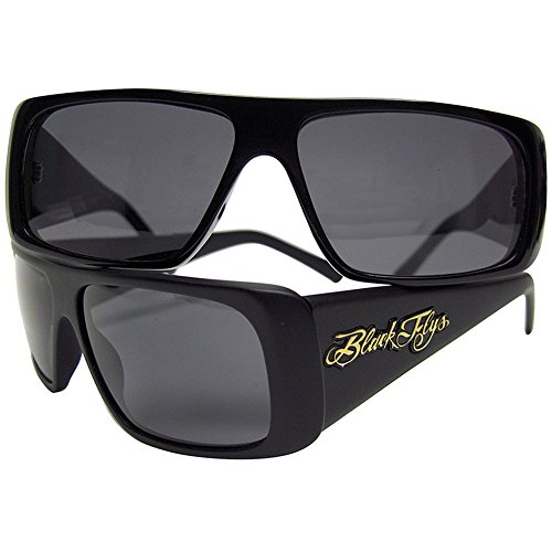 58dd4d35579 Black Flys Men s Fly Straight Sunglasses S.BLK  SMK POLAR