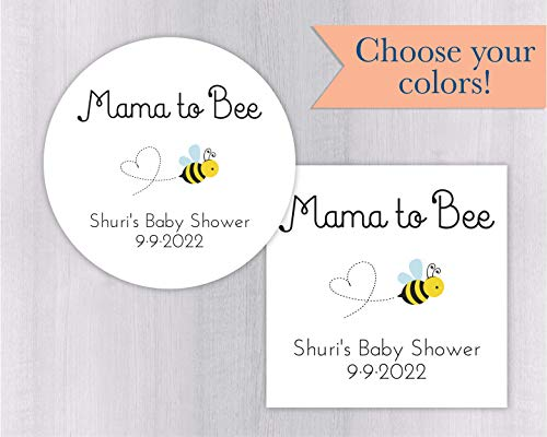 Mama To Bee Honey Jar Shower Favor Stickers (#053-WH)