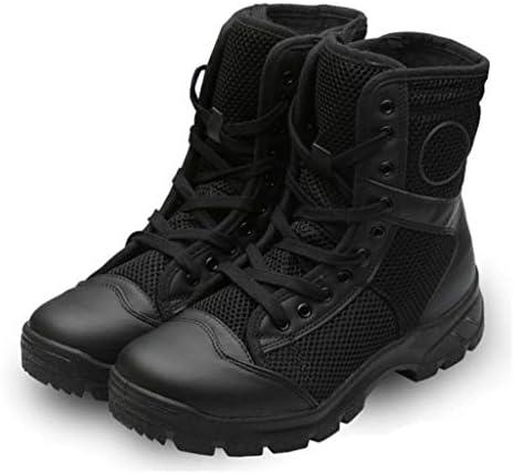 タクティカルブーツマイクロファイバーネット通気性の高いヘルプレースアップスタイル登山靴の快適滑り止め耐摩耗耐久性に優れたラバーソール (色 : 黒, サイズ : 27.5 CM)