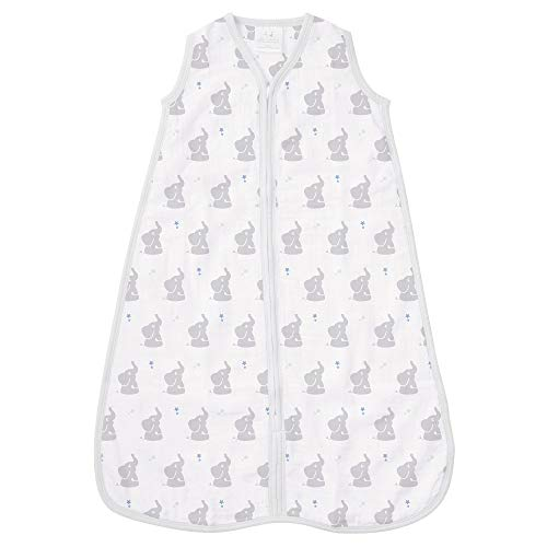 aden by aden + anais Classic Sleeping Bag, 100% Cotton Muslin, Wearable Baby Blanket, Baby Star, Medium, 6-12 Months ()