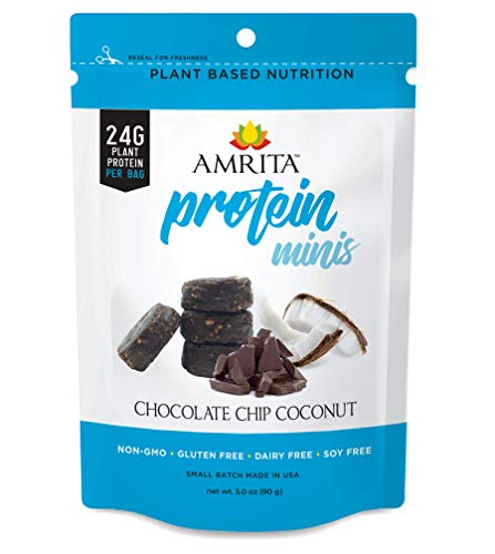 - Amrita Foods - Chocolate Chip Coconut Protein Mini Bars, 3 pouches