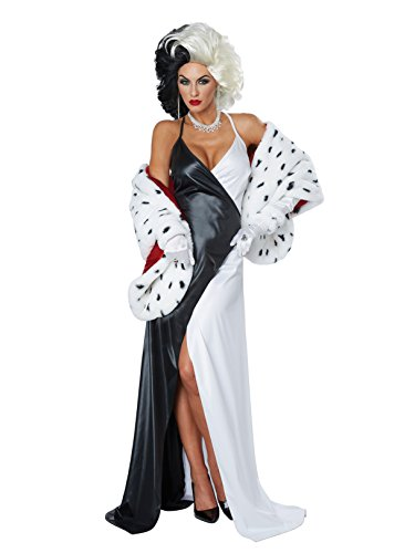 California Costumes Women's Cruel Diva Adult Woman Costume, Black/White/red Small