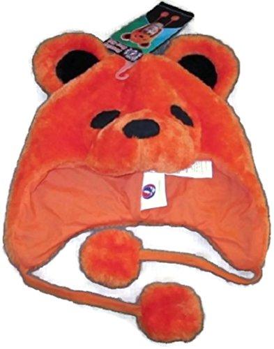 Hoodie Grateful Dead Orange Bear Adult Costumes - Grateful Dead Bear Fuzzy Hat Color:
