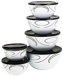 Corelle Coordinates 12-Piece Large Bowl Set, Simple Lines