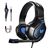 VWELL PC Gaming Headset - 3.5mm Stereo Gaming Headset for PS4, PC, Xbox One, Nintendo Switch, Noise Cancelling Headset with Mic, Volume Control