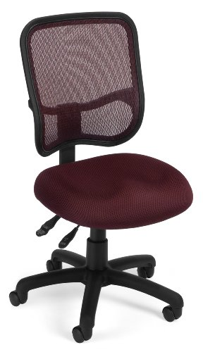 OFM Comfort Series Ergonomic Mesh Swivel Armless Task Chair