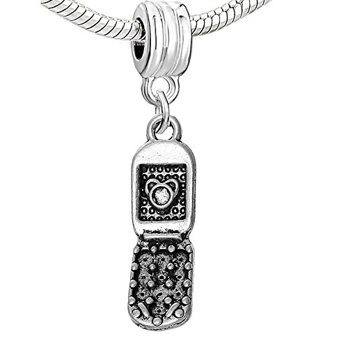 SEXY SPARKLES Mobile Cell Phone Charm Dangle Bead for Snake Chain Charm ()